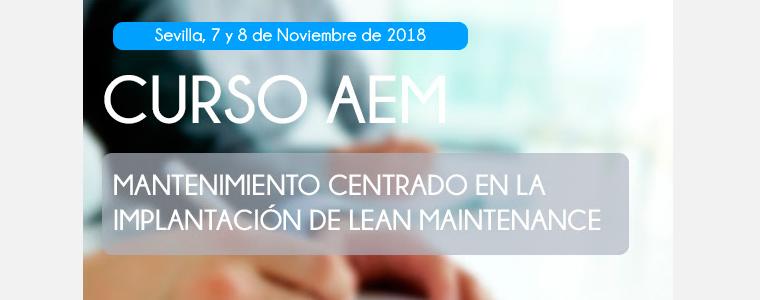 Curso AEM. Mantenimiento centrado en la implantación de Lean Maintenance