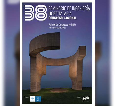 Cartel del 38 Seminario de Ingeniería Hospitalaria de Gijón