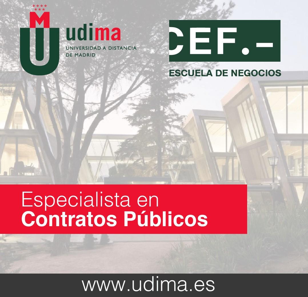 Título de Especialista en Contratos Públicos en la UDIMA